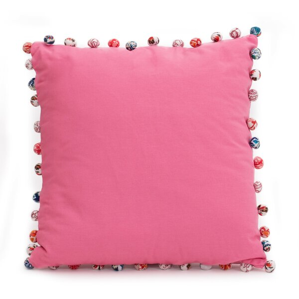 Blythe PomPoms 100% Cotton Pillow Cover by Bay Isle Home